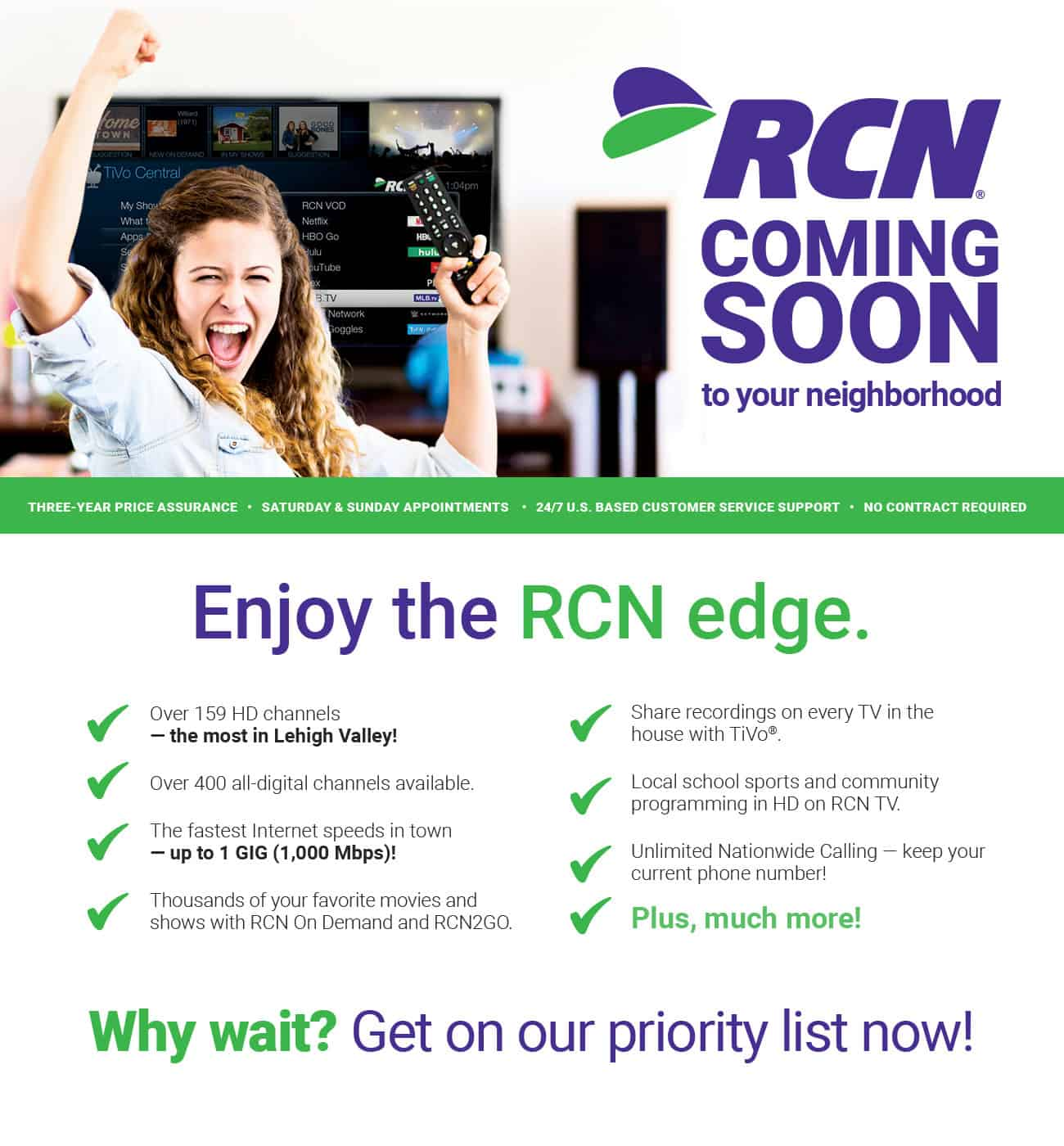 RCN is expanding in your area   RCN Lehigh Valley