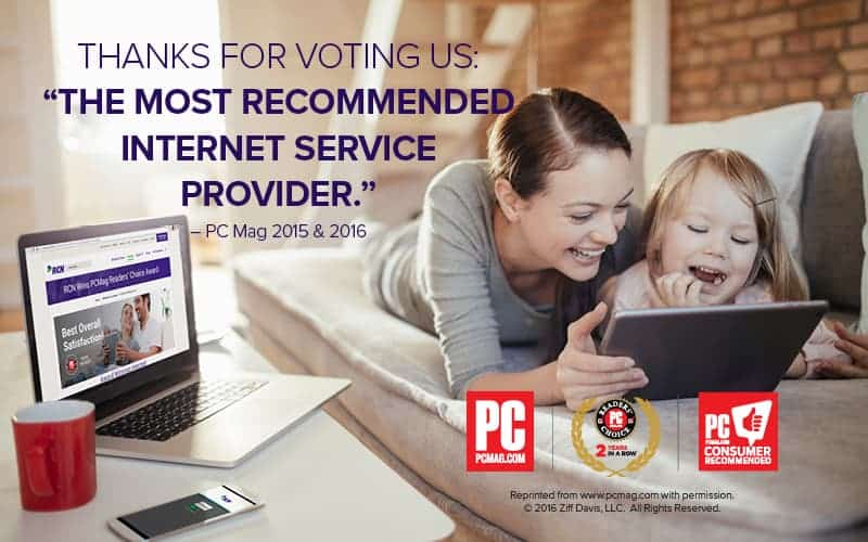 RCN Wins PC Mag Award for Internet Speed & Relability