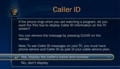 Caller ID On Your TV, See Who's Calling With TiVo | RCN