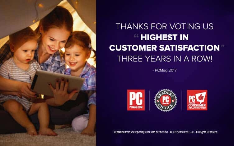 Thank you for voting us 'Highest in Customer Satisfaction' 3 years in a row!