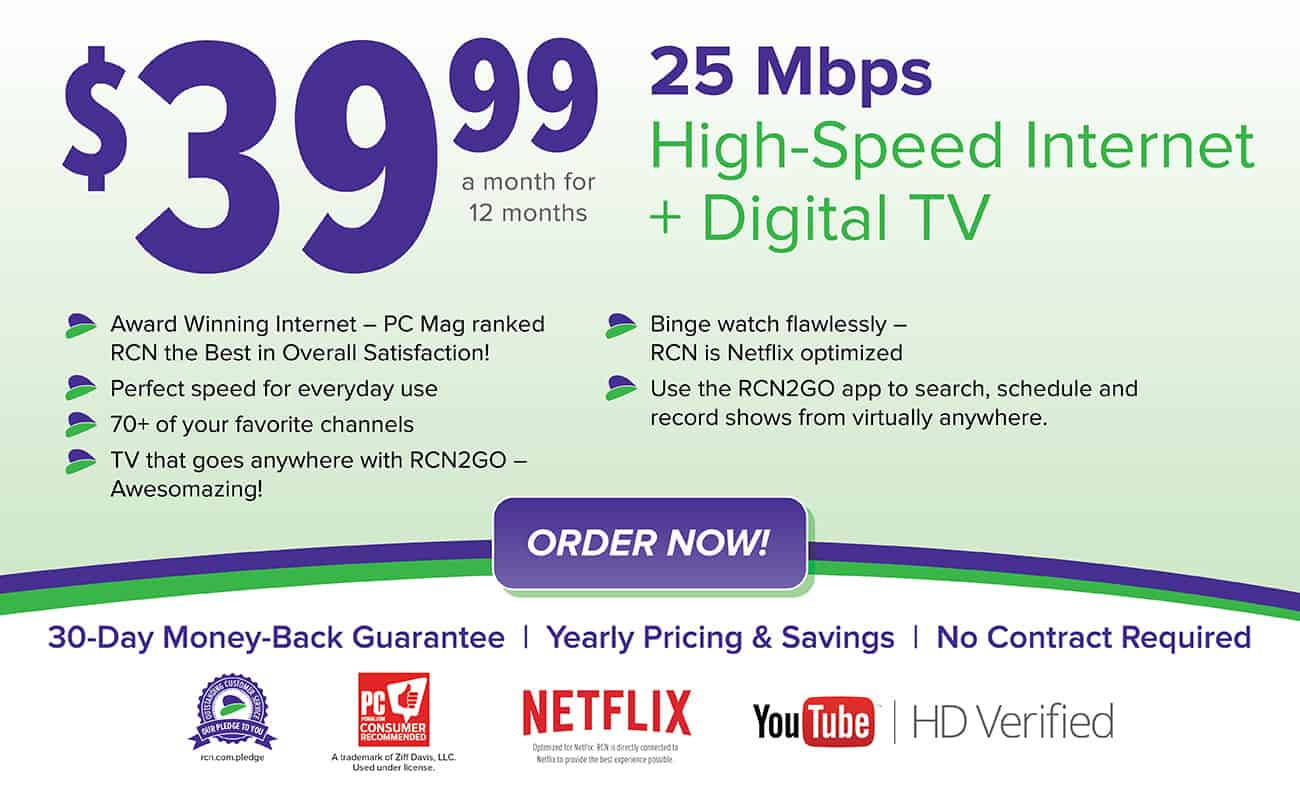 Rcn internet only / Apple edu store