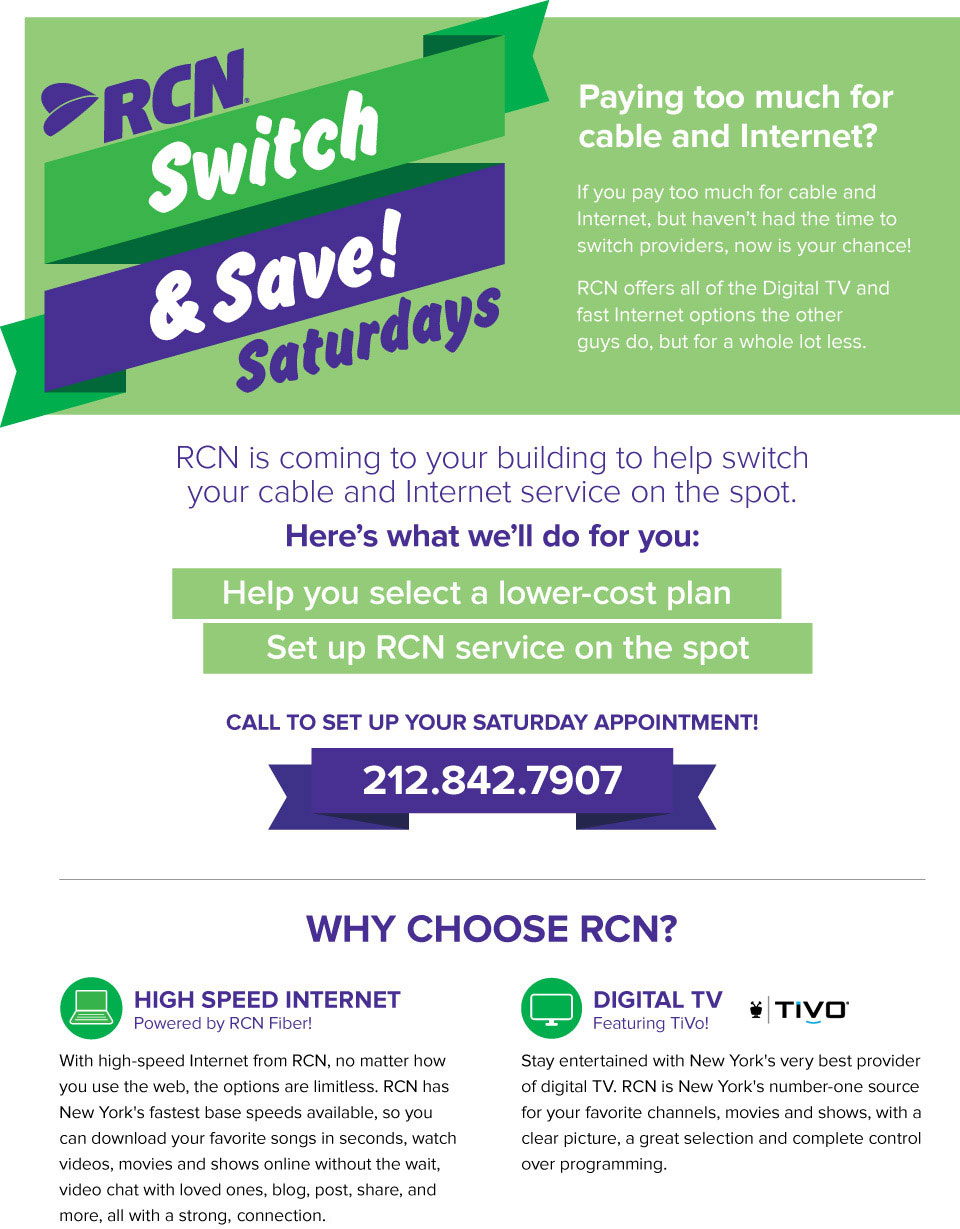 Switch to RCN Internet and Save in New York!